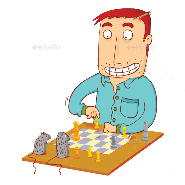 Chess Time with Mice - Animals Characters