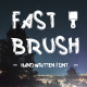 Fast Brush Font Handmade - GraphicRiver Item for Sale