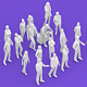 20 Lowpoly People - 3DOcean Item for Sale