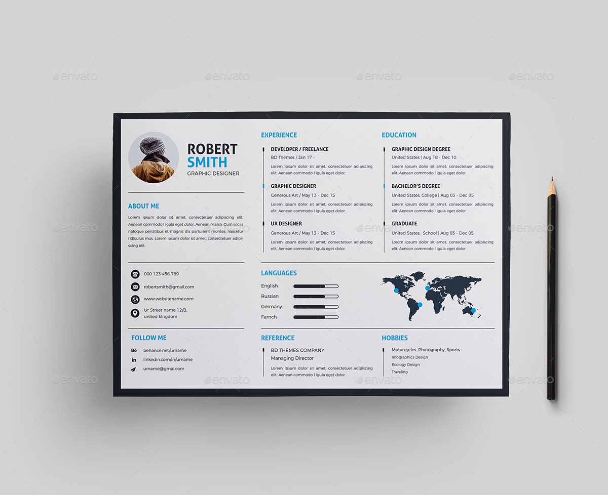 Landscape Resume by generousart | GraphicRiver