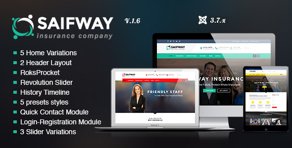 SaifWay - Responsive Insurance Agency Joomla Template - Business Corporate
