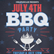 July 4th BBQ Flyer