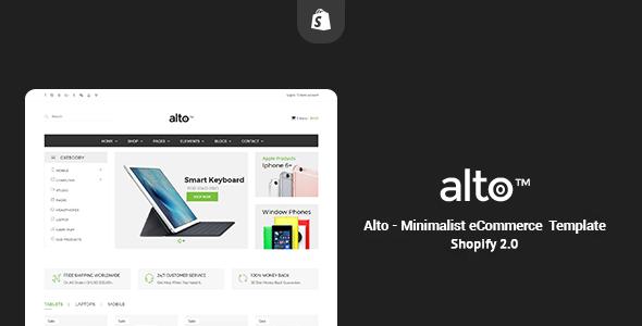 Alto – Minimalist Responsive Shopify Theme