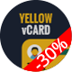 Yellow vCard Template - ThemeForest Item for Sale