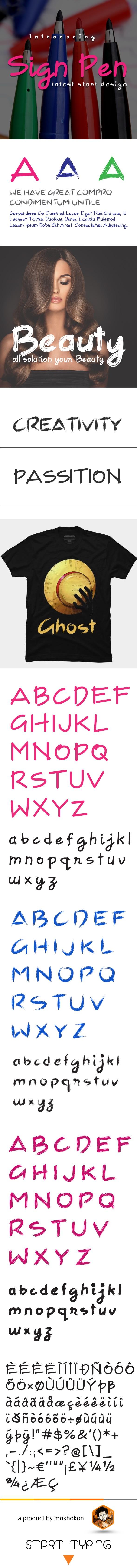 Sign Pen - Handwriting Fonts