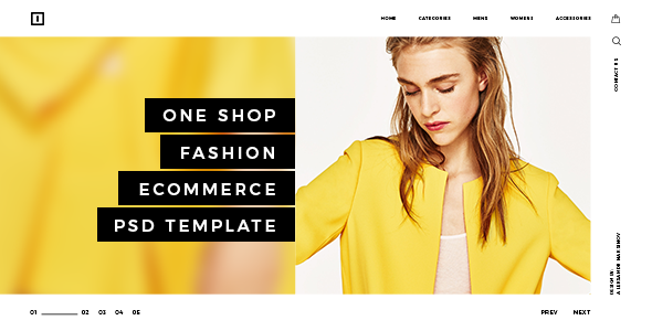 ONE SHOP - Fashion Ecommerce PSD Template - Retail PSD Templates