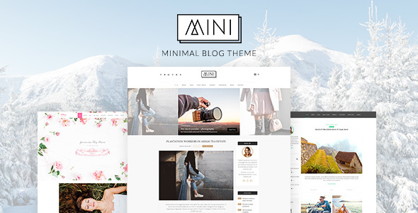 MINI Blog – Minimal Blog WordPress Theme