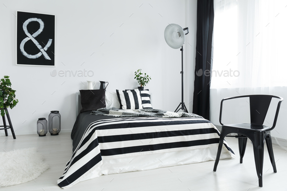 Bedroom with chair - Stock Photo - Images