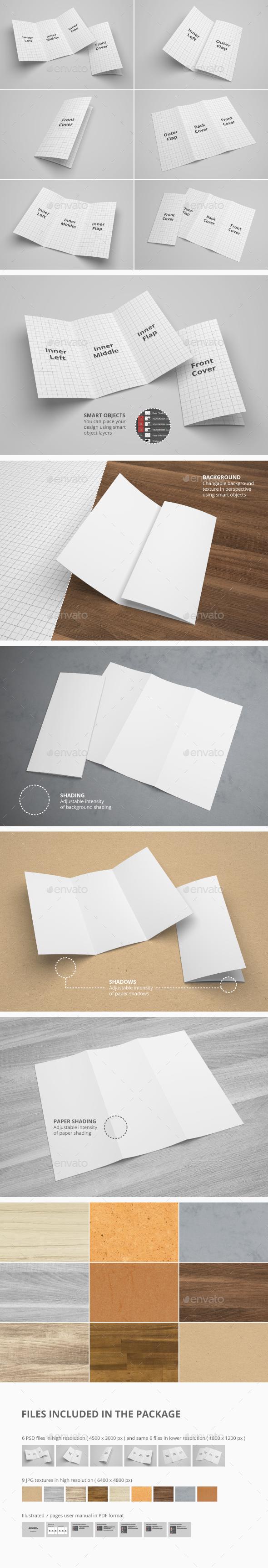 US Letter Trifold Brochure Mockup - Brochures Print