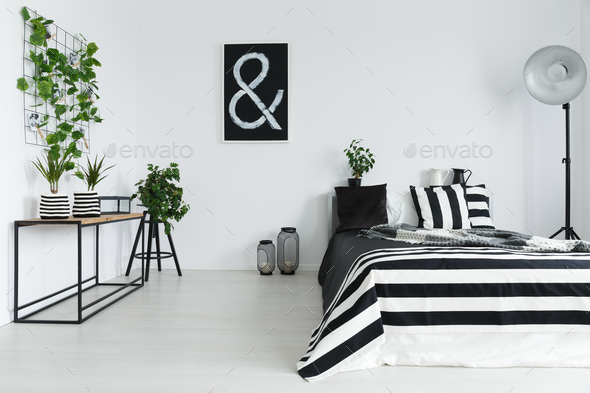 Bedroom with plants - Stock Photo - Images