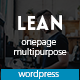 Lean - One Page Portfolio WordPress Theme - ThemeForest Item for Sale