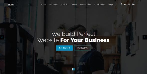 Lean - One Page Portfolio WordPress Theme - Portfolio Creative