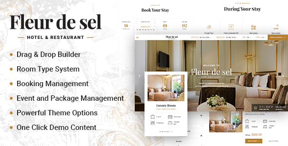 Fleurdesel - Hotel Booking WordPress Theme