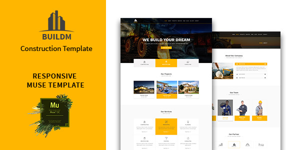 Buildm – Construction Muse Template