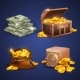 Casino Vector 3D Signs and Money Icons - GraphicRiver Item for Sale
