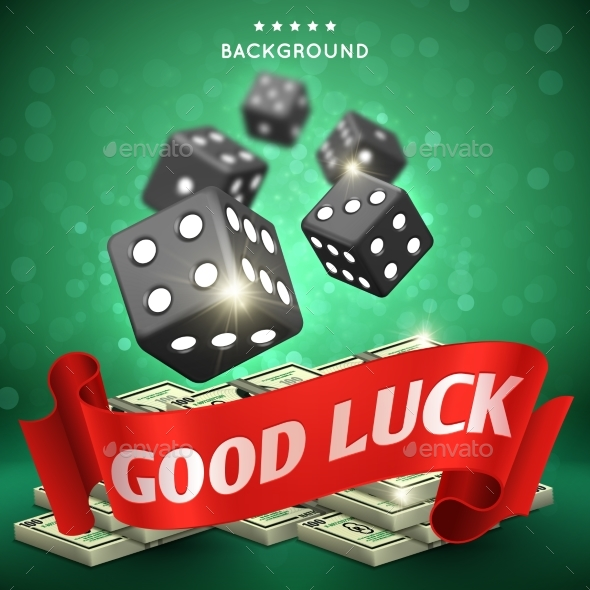 Casino Dice Gambling Background Good Luck - Miscellaneous Vectors