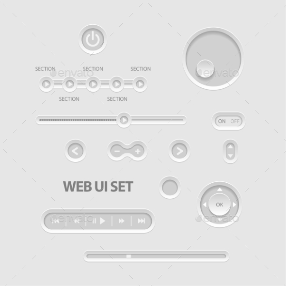 Dark Web UI Elements - Media Technology