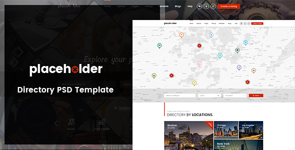 Placeholder - Directory & Listing PSD Template