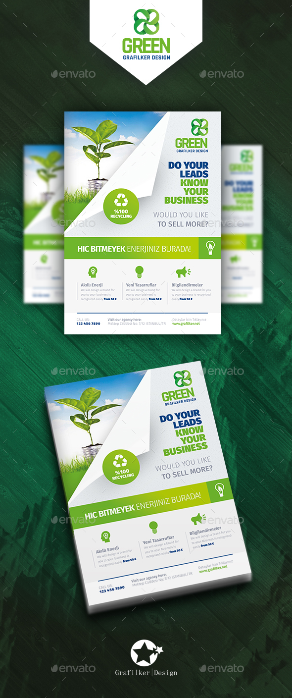 Green Energy Flyer Templates - Corporate Flyers