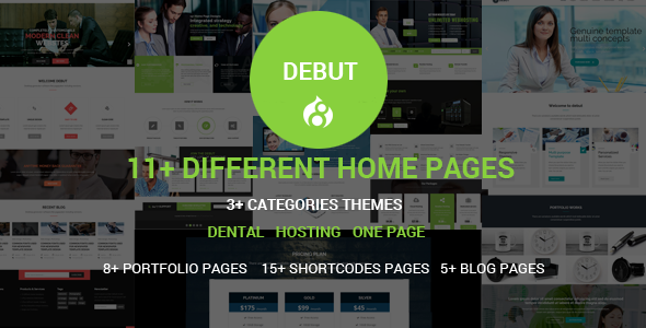 Debut - The Multi-Purpose Responsive Drupal 8 Theme - Corporate Drupal