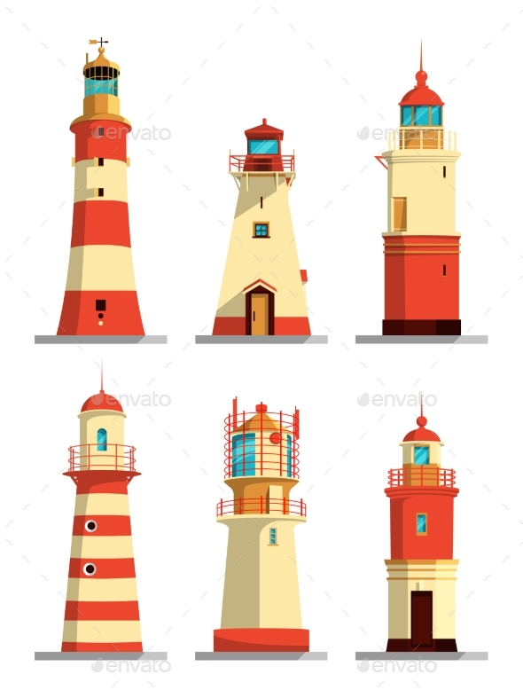 Lighthouses in Different Styles - Buildings Objects