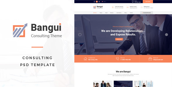 Bangui : Consulting PSD Template - Corporate PSD Templates