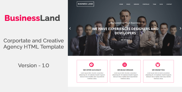 BusinessLand – Corportate and Creative Agency HTML Template
