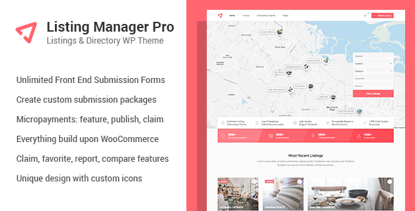 Listing Manager Pro - Directory Theme for WooCommerce - Directory & Listings Corporate