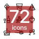 Food, Restaurant, Foodstuff Icons Pack for Web and Mobile Apps