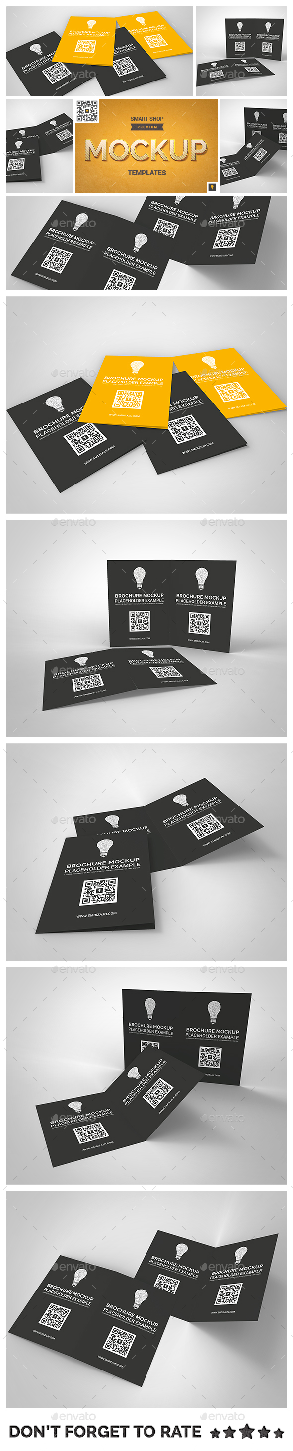 Brochure Bifold Mockup - Brochures Print