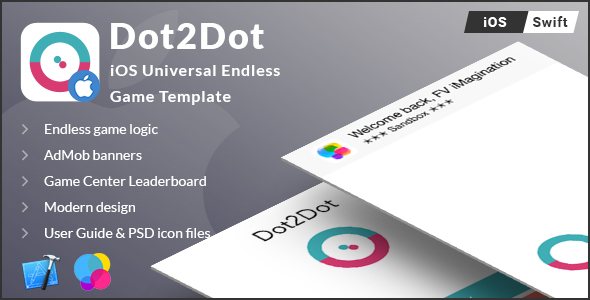 Dot2Dot | iOS Universal Endless Board Game Template (Swift) - CodeCanyon Item for Sale