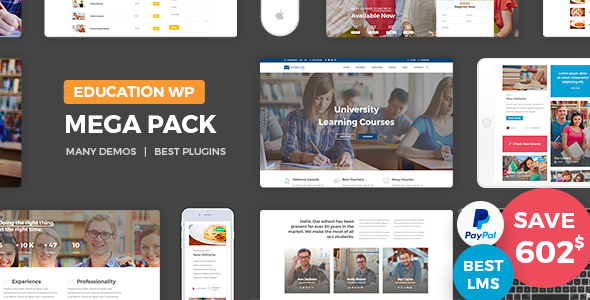 Education Pack - Education Learning Theme WP - Education WordPress