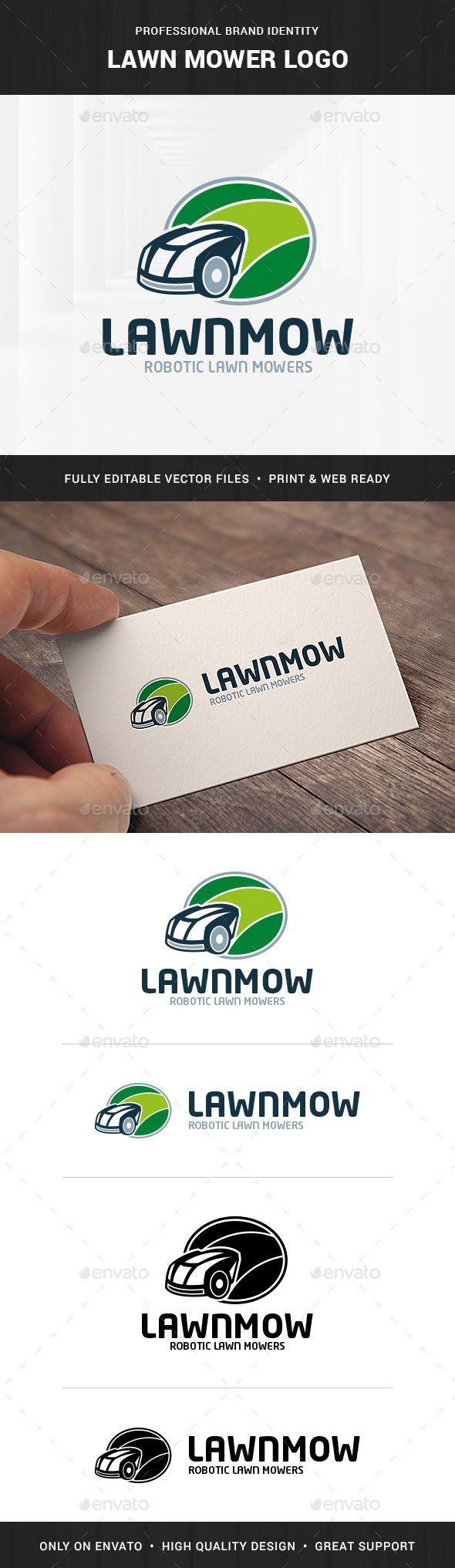 Lawn Mower Logo Template - Objects Logo Templates