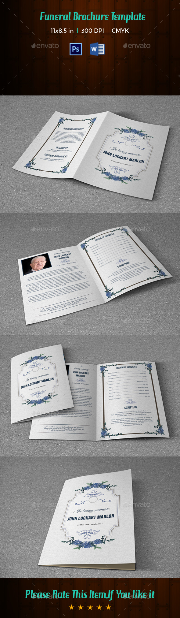 Funeral Program Template V176 - Informational Brochures