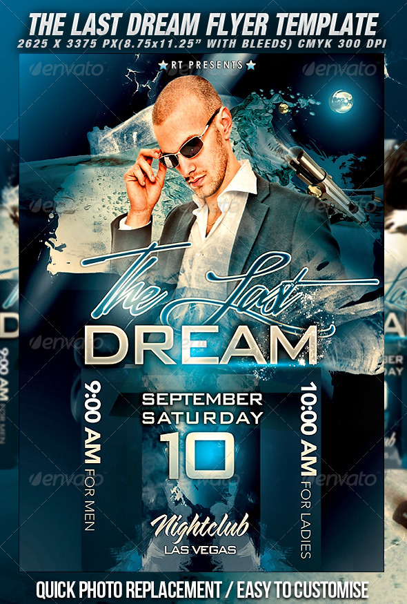 The Last Dream Flyer Template - Clubs & Parties Events