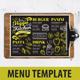 Vegan Food Menu - GraphicRiver Item for Sale