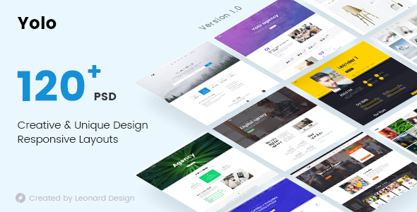 Yolo | Responsive Multi-Purpose PSD Template