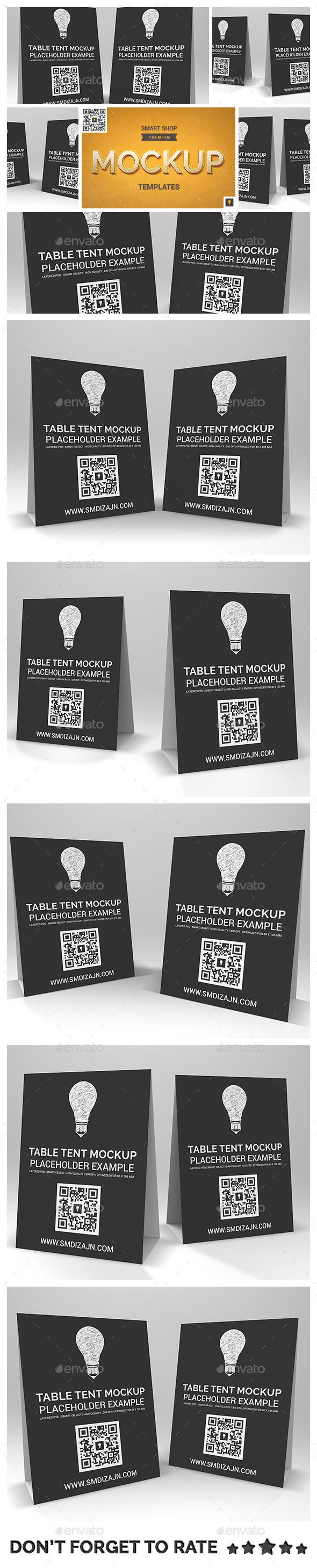 Table Tent Mockup - Product Mock-Ups Graphics