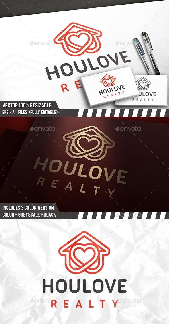 Heart House Line Logo - Symbols Logo Templates