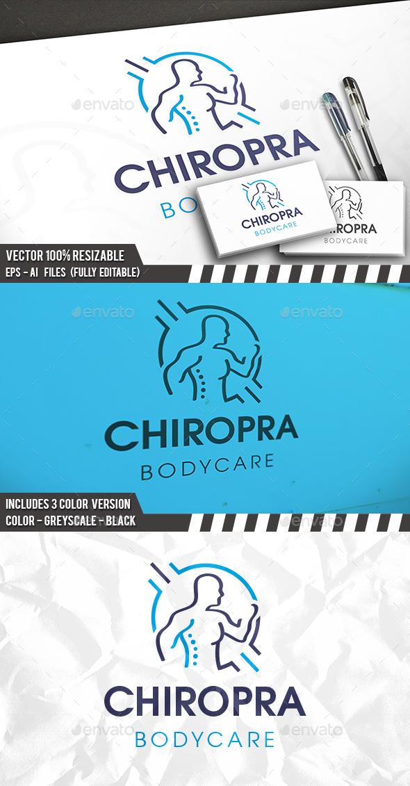 Chiropractic Body Logo - Humans Logo Templates