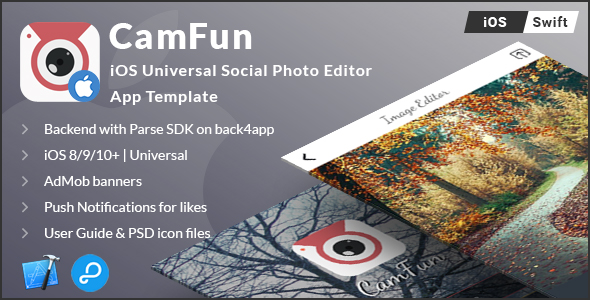 CamFun | iOS Universal Social Photo App Template (Swift) - CodeCanyon Item for Sale