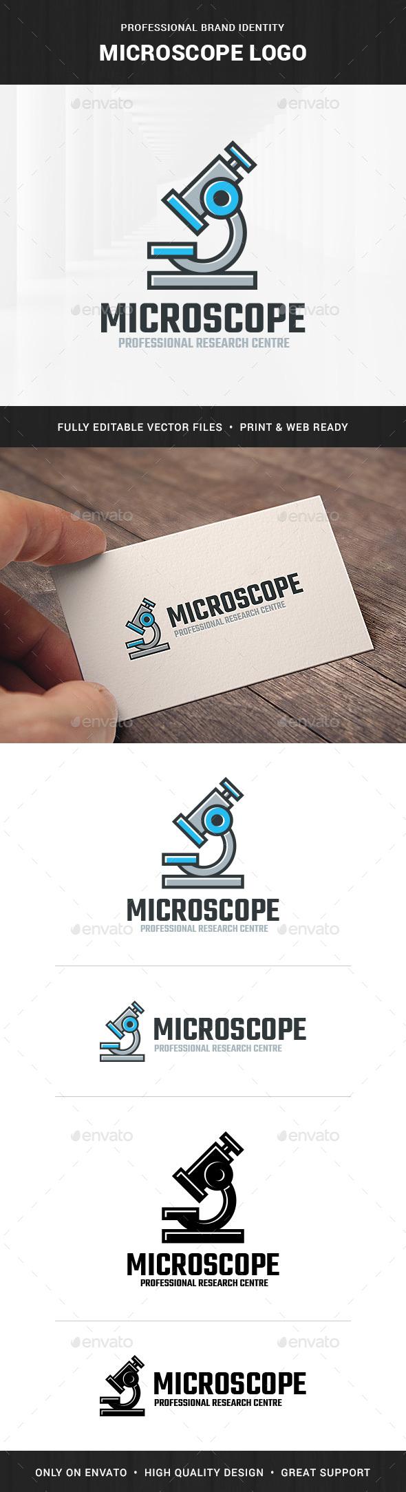 Microscope Logo Template - Objects Logo Templates