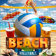 Beach Volleyball Flyer Template - GraphicRiver Item for Sale