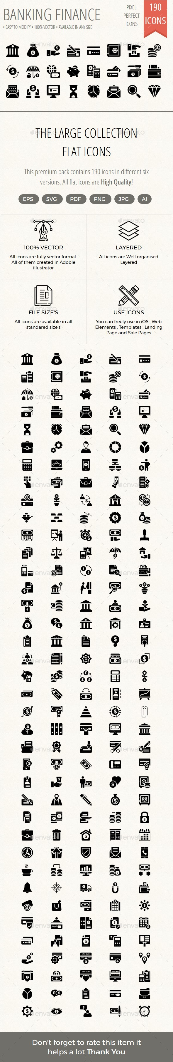 Banking and Finance Glyphs icons - Icons