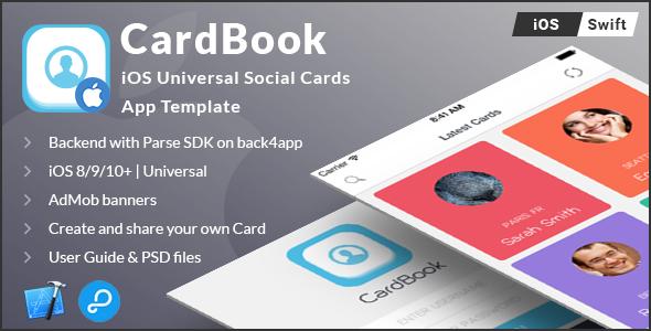CardBook   iOS Universal Card App Template (Swift) - CodeCanyon Item for Sale