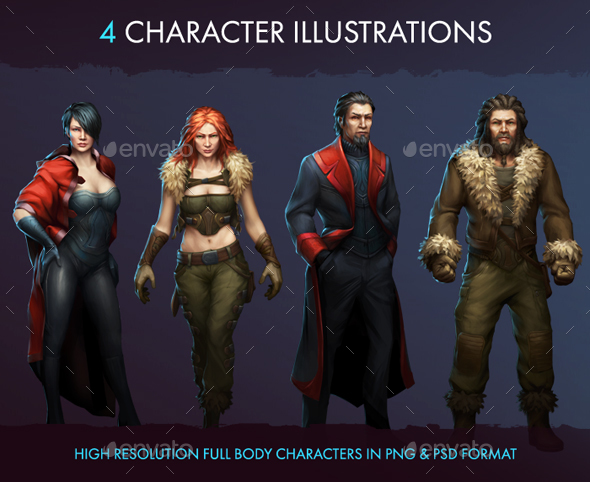 Character Illustrations - Miscellaneous Game Assets