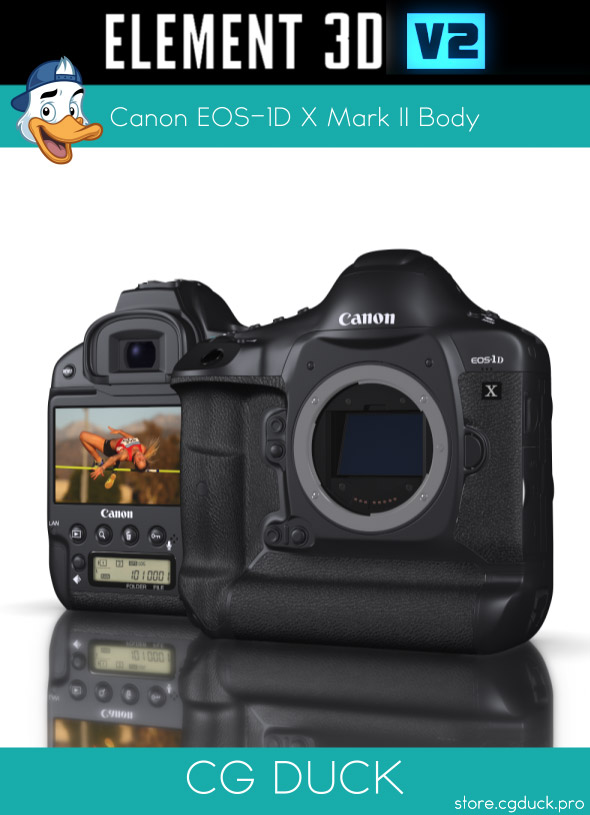 Canon EOS-1D X Mark II for Element 3D - 3DOcean Item for Sale