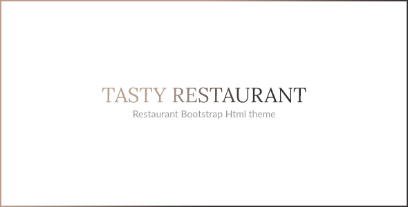 TASTY – RESTAURANT HTML TEMPLATE