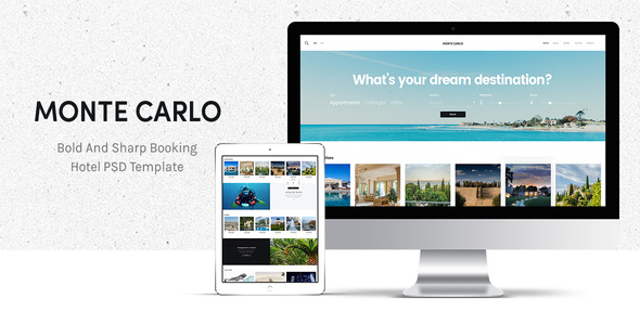 Monte Carlo – Bold And Sharp Booking Hotel PSD Theme