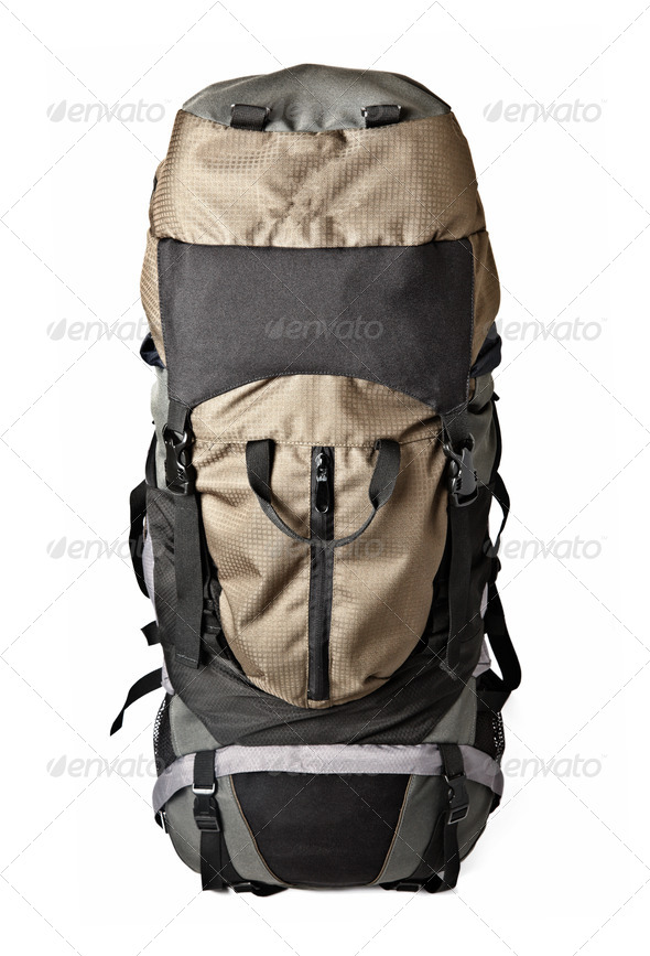 Trekking backpack isolated - Stock Photo - Images